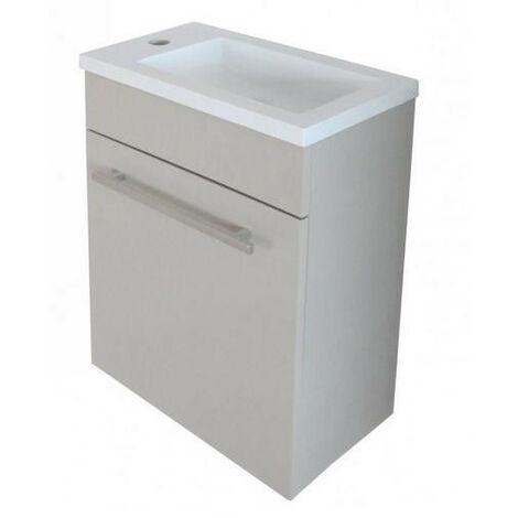 Ondée - Meuble lave-mains taupe à suspendre 40cm - NINO