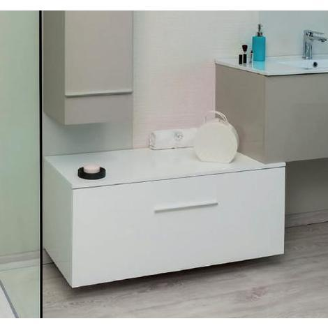 Ondee Meuble Salle De Bain Bas Blanc A Suspendre 90 Cm Livre Monte Terry