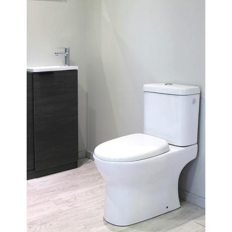 Ondée - Pack WC à poser 36 x 76 x 64.5 cm en céramique blanche avec réservoir 3/6L - ADI