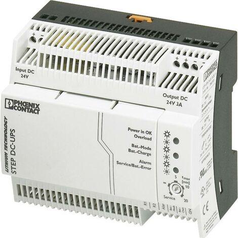 Onduleur (ASI) industriel - Installation (rail DIN) Phoenix Contact STEP-UPS/24DC/24DC/3