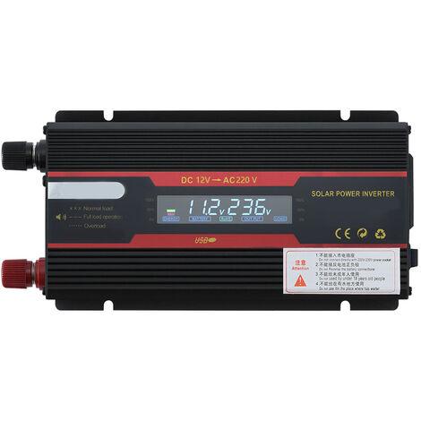 Onduleur ¨¤ onde sinuso?dale de voiture avec convertisseur d'affichage LCD, 12 V ¨¤ 220 V