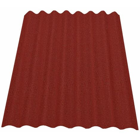 Onduline Easyline Dachplatte Wandplatte Bitumen Wellplatte 1x0,76m - rot