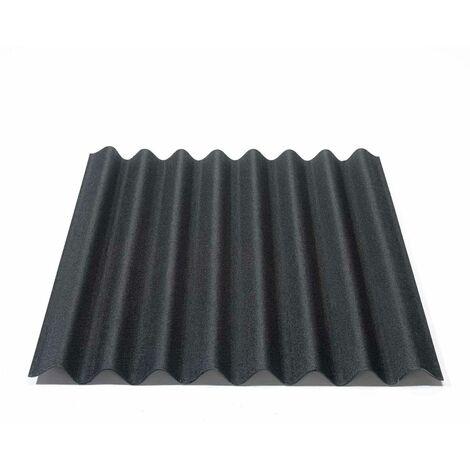 Onduline Easyline Dachplatte Wandplatte Bitumenwellplatten Wellplatte 1x0,76m - schwarz