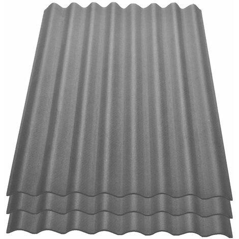 Onduline Easyline Dachplatte Wandplatte Bitumenwellplatten Wellplatte 3x0,76m² - grau