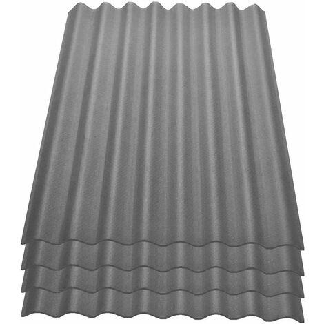 Onduline Easyline Dachplatte Wandplatte Bitumenwellplatten Wellplatte 4x0,76m² - grau