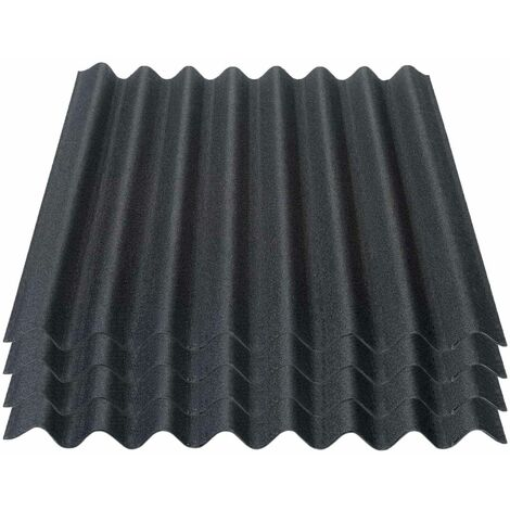 Onduline Easyline Dachplatte Wandplatte Bitumenwellplatten Wellplatte 4x0,76m² - schwarz