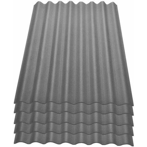 Onduline Easyline Dachplatte Wandplatte Bitumenwellplatten Wellplatte 5x0,76m - grau