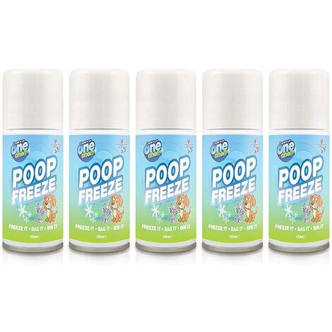 "main image of ""One Chem Poop Freeze Spray 5 x 150ml Ready to Use - Freeze it - Bag it - Bin it"""