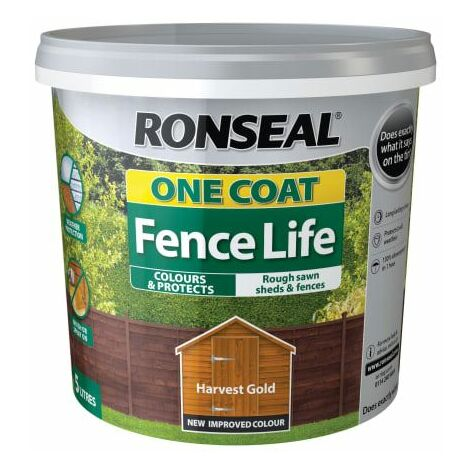 One Coat Fence Life Harvest Gold 5 Litre (RSLOCFLHG5L)