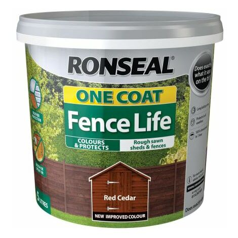 One Coat Fence Life Red Cedar 5 Litre (RSLOCFLCE5L)
