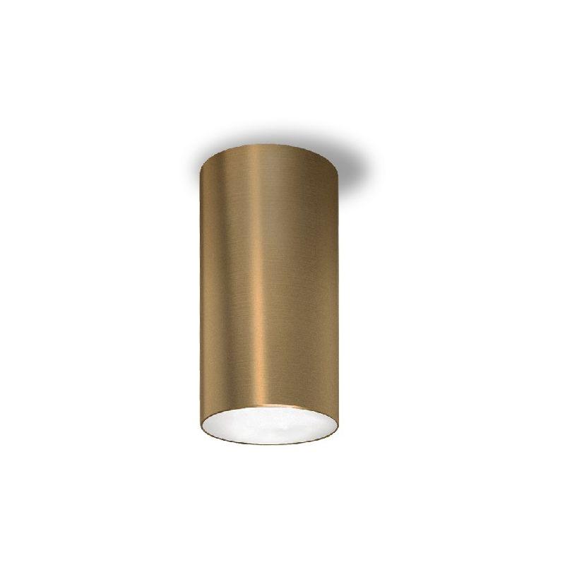 Homemania - One Deckenlampe - Deckenleuchte - von Wand - Bronze aus Aluminium, 10,5 x 10,5 x 21 cm, 1 x LED, 15W, 1097lm, 3000K, 220-240V