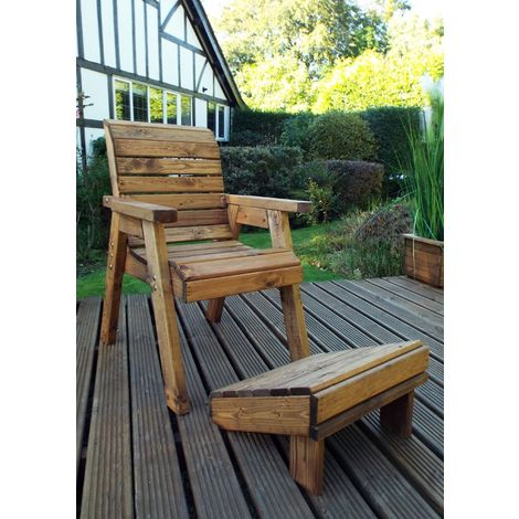 One Seater Lounger Quality Wooden Garden Furniture, fully assembled