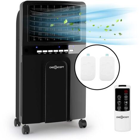 oneConcept Baltic Black 3-en-1 rafraîchisseur d'air ventilateur humidificateur 65 W 400 m³/h
