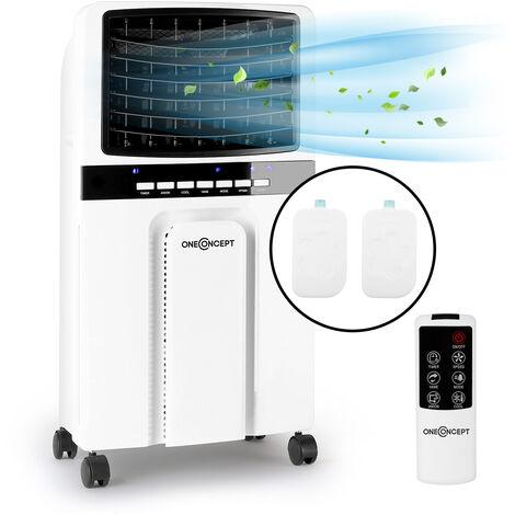 oneConcept Baltic Blue Enfriador de aire y ventilador de 65 W, 360 m³/h, mando a distancia