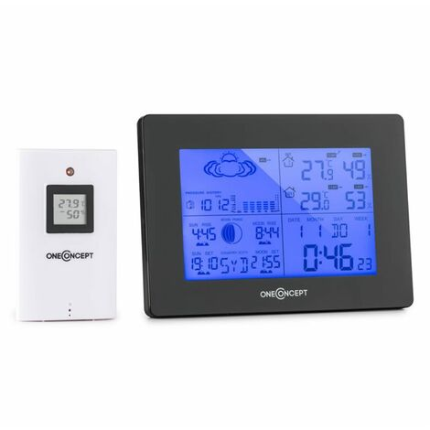 oneConcept Bergen Wireless Weather Station Battery Alarm incl. Outdoor Sensor