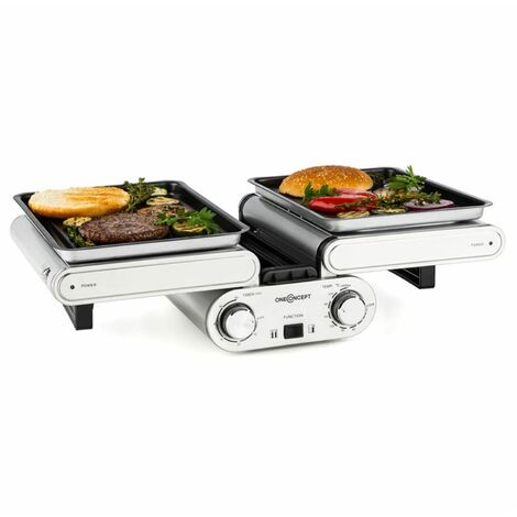 oneConcept Butterfly Multifunctional Grill Tabletop Grill Electric 1200W 240°C Timer