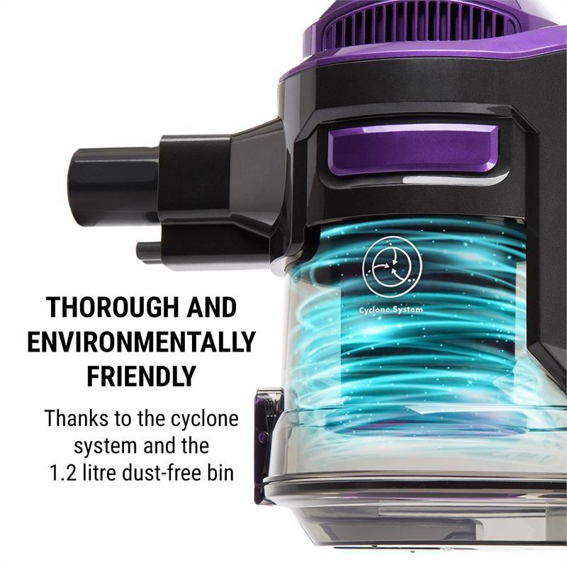 oneConcept cleanFree Aspirateur sans fil filtre HEPA cyclone