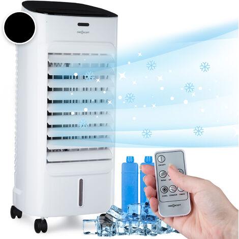 oneConcept Coolster 4-en-1 rafraîchisseur d'air 60 W 320m³/h réservoir 4l - blanc