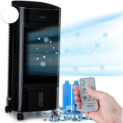 oneConcept Coolster Enfriador de aire 4 en 1 de 60W, 320m³/h, depósito de agua de 4L Negro