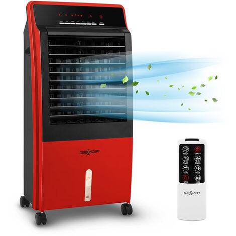 oneConcept CTR 1 Enfriador de aire 4 en 1 con ventilador 65 W Mando a distancia Portátil Rojo