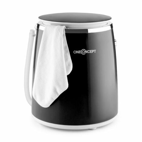 oneConcept Ecowash-Pico Mini Washing Machine spin cycle function 3.5 kg 380 W black
