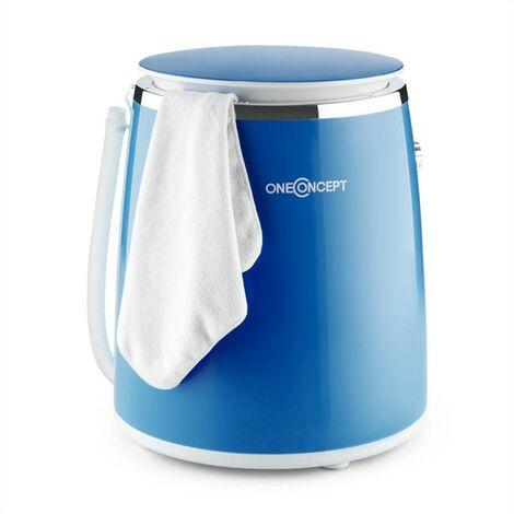 oneConcept Ecowash-Pico Mini Washing Machine spin cycle function 3.5 kg 380 W blue
