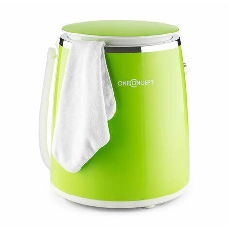 oneConcept Ecowash-Pico Mini Washing Machine spin cycle function 3.5 kg 380 W green
