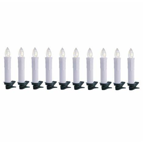 oneConcept Eternal Flame 10 Juego de luces LED para árbol de Navidad 10 piezas Blanco cálido Mando a distancia