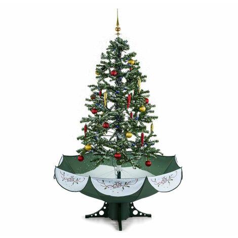 oneConcept Everwhite Árbol de Navidad con sistema de nevado 180cm LED Música Adornos Verde