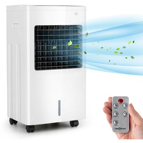 oneConcept Freeze Me Enfriador de aire, ventilador y deshumidificador 3 en 1 de 400m³/h