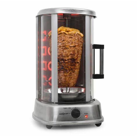 oneConcept Kebab Master Pro Grill vertical tourne broche 1500W acier