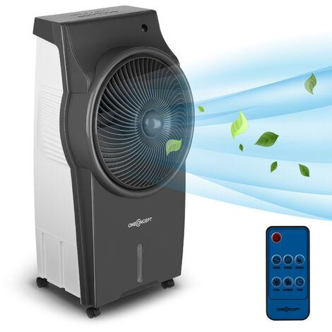 oneConcept Kingcool Enfriador de aire, ventilador, ionizador y humidificador de aire 4 en 1 Gris