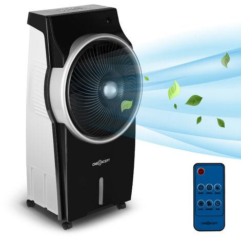 oneConcept Kingcool Enfriador de aire, ventilador, ionizador y humidificador de aire 4 en 1 Negro