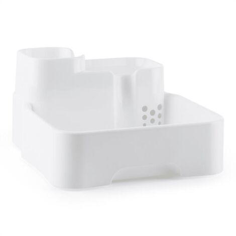 oneConcept Lake Lassie Abrevadero para mascotas Fuente de agua para animales 4L Bomba Filtro de carbón activo