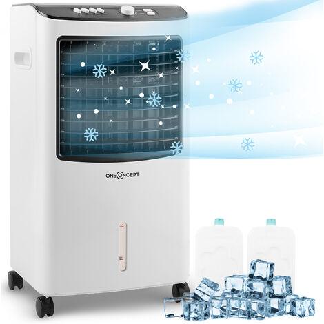 oneConcept MCH-2 V2 Luftkühler Ventilator Luftbefeuchter 3-in-1 mobil 65 W
