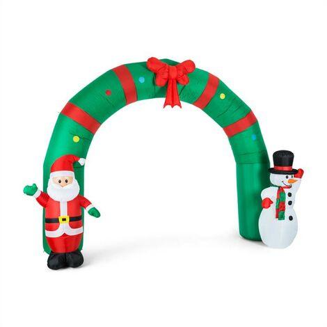 oneConcept Merry Welcome Decoración navideña hinchable 250cm luces Led