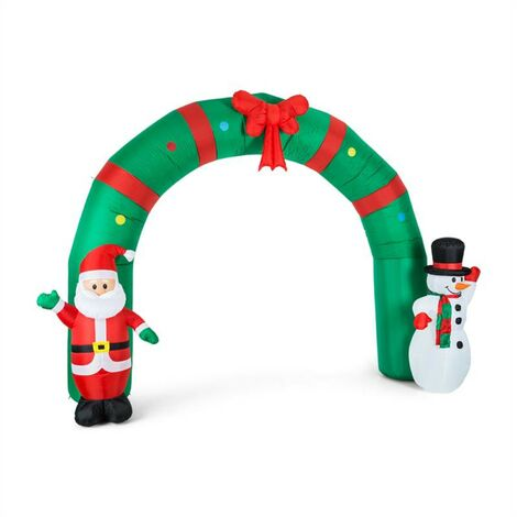 oneConcept Merry Welcome Décoration de Noël gonflable porte 250cm LED