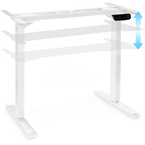 oneConcept Multidesk Comfort escritorio de altura regulable eléctrico blanco