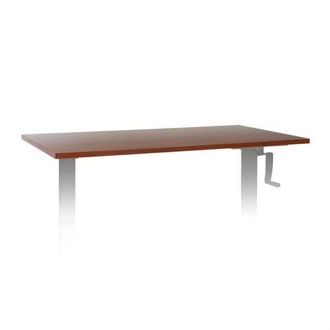 oneConcept Multidesk Comfort Table Top 120x65 Multiplex Melamine walnut
