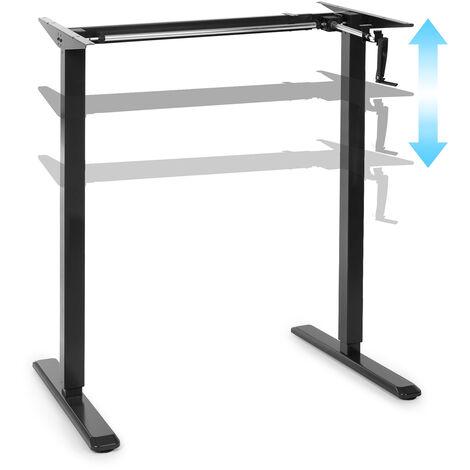 oneConcept Multidesk escritorio de altura regulable manual 73-123 cm de altura negro