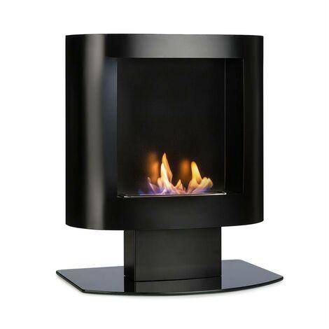 oneConcept Phantasma Tower Ethanol Fireplace Safety Burner Extinguishing Aid Black