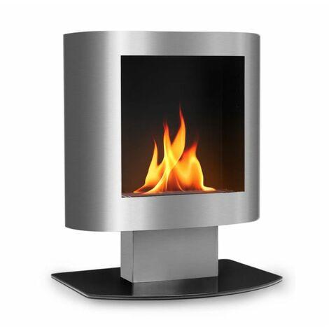 oneConcept Phantasma Tower Ethanol Fireplace Safety Burner Extinguishing Aid Stainless Steel