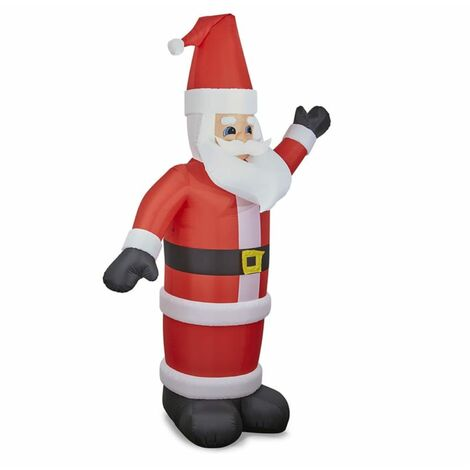 oneConcept Santa XXL Santa Claus hinchable 350 cm hinchador 6 LED iluminado