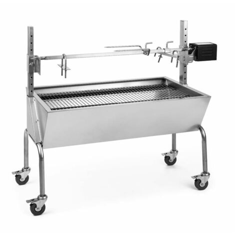 oneConcept Sauenland Suckling Pig BBQ Grill with Electric Rotisserie Motor