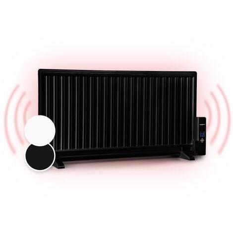 oneConcept Wallander Oil Radiator 1000W Thermostat Oil Heater Ultra Flat Black