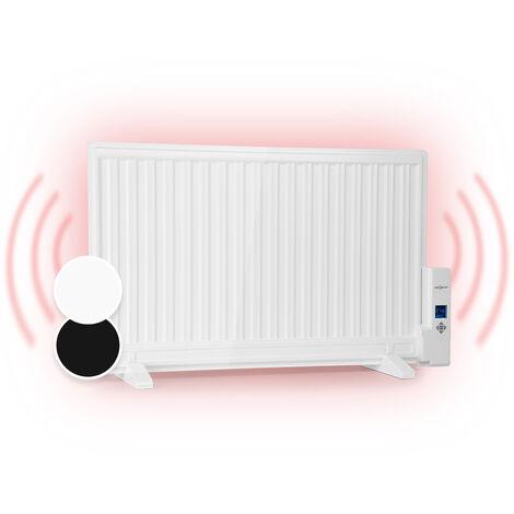 oneConcept Wallander Radiateur à bain d'huile ultra plat 800W thermostat - blanc