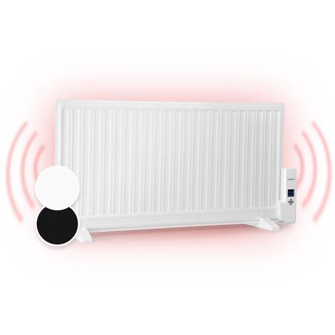 oneConcept Wallander Radiateur à bain d'huile ultraplat 1000W thermostat - blanc