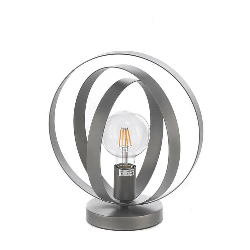 Lampada da Tavolo a Una Luce, Grigio Metallizzato - Onli