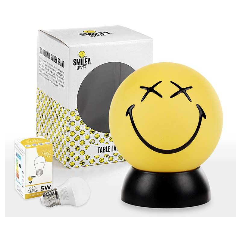 Lumetto Smiley World GREG giallo con lampadina LED - Onli