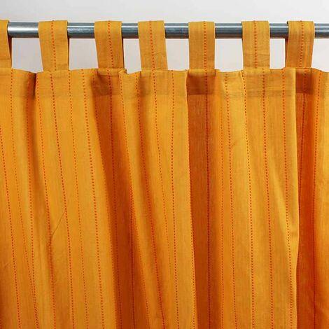 ONTARIO - Rideau en coton bi-colore jaune 150x250 - Multicolore